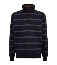 Paul And Shark Kipawa Stripe Zip Neck Sweater Male