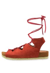 Chocolate Schubar Olivia Platform Sandals Red Ochre