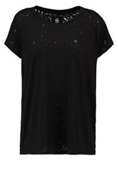 G Star Gstar Theagan Straight Art R T S S Print Tshirt Dark Black Burned