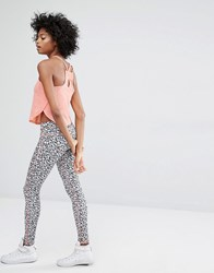 Noisy May Kicks Back Animal Print Leggings Multi