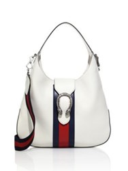 Gucci Dionysus Leather Hobo Bag White Black