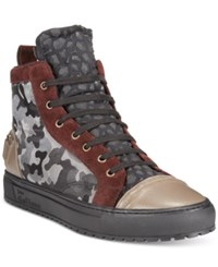 John Galliano Camo Athletic High Tops Men's Shoes