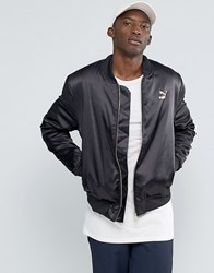 Puma Luxe Bomber Jacket In Black Black