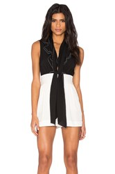 Rachel Zoe Maggie Romper Black And White