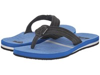Quiksilver Carver Suede Art Grey Blue Blue Men's Sandals Gray