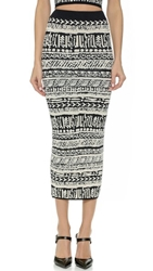 Ronny Kobo Ronny Blister Stitch Tribal Skirt Bone And Onyx