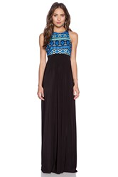 T Bags Losangeles Ikat Maxi Dress Black