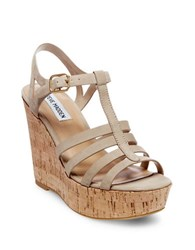 Steve Madden Nalla Wedge Fisherman Sandals Taupe
