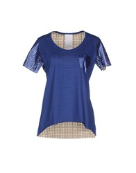 Luxury Fashion Topwear T Shirts Women Blue