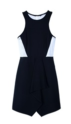Tibi Ponte Drape Front Dress