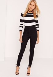 Missguided High Waisted Jeggings Black