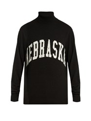 Off White Nebraska Intarsia Roll Neck Sweater Black Multi