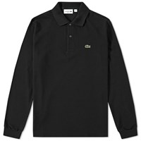 Lacoste Long Sleeve Classic Pique Polo Black