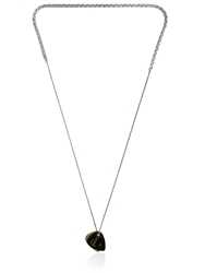 Laura B Guitar Pick Charms Brass And Silver Chain Black