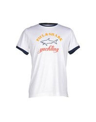 Paul And Shark Topwear T Shirts Men White