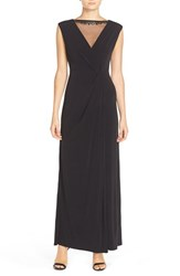 Women's Ellen Tracy Illusion Neck Jersey Gown