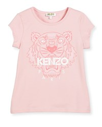 Kenzo Short Sleeve Tiger Jersey Tee Light Pink Size 2 5 Size 5
