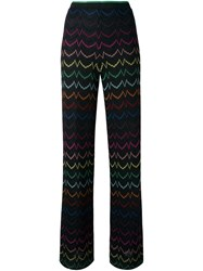 Missoni Lurex Zig Zag Straight Trousers Black