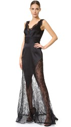 Ungaro Lace Gown Black