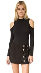 Glamorous Cold Shoulder Bodysuit Black