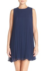 Women's Bb Dakota Pleated Trapeze Shift Dress Navy