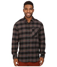 Rip Curl Countdown Long Sleeve Flannel Black Men's Clothing
