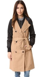 3.1 Phillip Lim Bomber Trench Coat Khaki