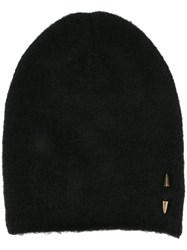 Isabel Benenato Spike Detail Beanie Black