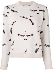 Maison Kitsune Bird Intarsia Jumper Nude And Neutrals