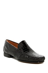 Mezlan Simon Genuine Crocodile Leather Loafer Black