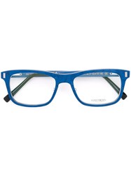 Gold And Wood 'Orion' Glasses Blue