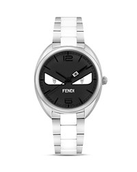 Fendi Momento Bug Stainless Steel Watch 34Mm Black