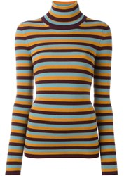 I'm Isola Marras Striped Turtleneck Jumper Orange