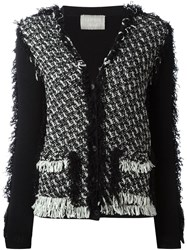 Lanvin Tweed Cardigan Black