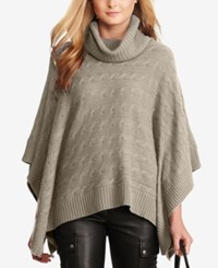 Polo Ralph Lauren Cable Knit Poncho Grey