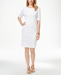 Karen Scott Petite T Shirt Dress Only At Macy's Bright White