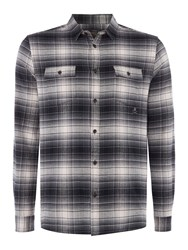 Label Lab Men's Nicholson Brushed Check Shirt Grey