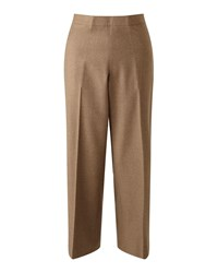 Jigsaw Wool Flannel Crop Trouser Camel