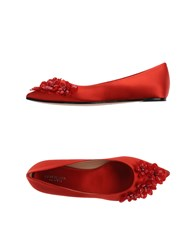 Giambattista Valli Footwear Ballet Flats Women Red