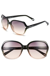 Fossil 'Jesse' 58Mm Oversize Sunglasses Charcoal Pale Rose