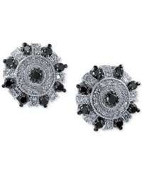 Effy Collection Effy White And Black Diamond Stud Earrings 3 4 Ct. T.W. In 14K White Gold