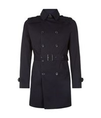 Sandro Magnetic Trench Coat Blue