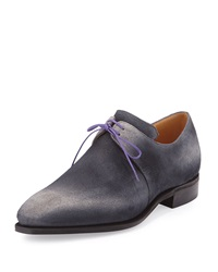 Arca Suede Lace Up With Purple Piping Corthay