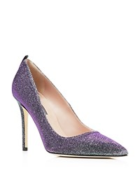 Sjp By Sarah Jessica Parker Fawn Metallic Glitter Pointed Toe High Heel Pumps Bloomingdale's Exclusive Silver Glow