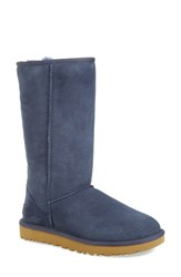Uggr Women's Ugg 'Classic Ii' Genuine Shearling Lined Tall Boot Navy Suede