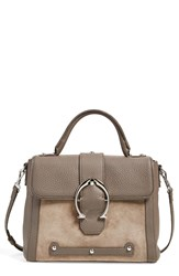 Etienne Aigner 'Small Barrel' Satchel Putty Suede
