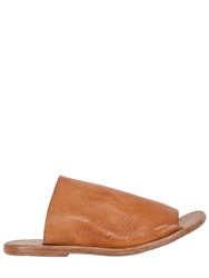 Dimissianos And Miller Mule Vintage Grained Leather Sandals Natural