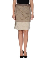 Marithe' F. Girbaud Le Jean De Marithe Francois Girbaud Knee Length Skirts Military Green