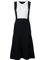 Paule Ka Ribbed Kitted Dress Black
