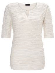 Gerry Weber Textured Jersey Top Mother Of Pearl
